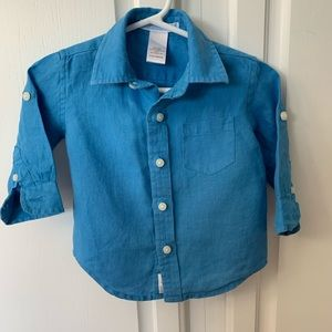Janie and Jack 3-6 month linen shirt